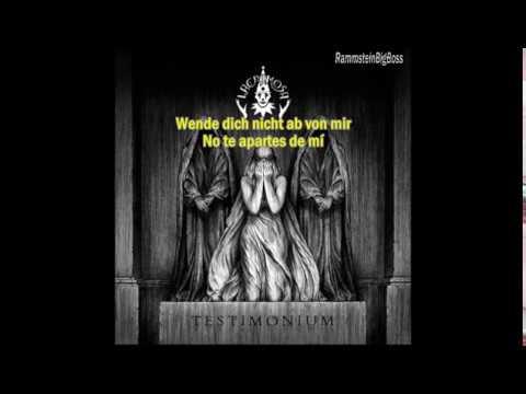 Lacrimosa - Lass die Nacht nicht über mich fallen (Alemán - Español)