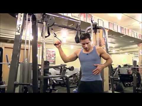 Mario Lopez demonstrates his abs routine