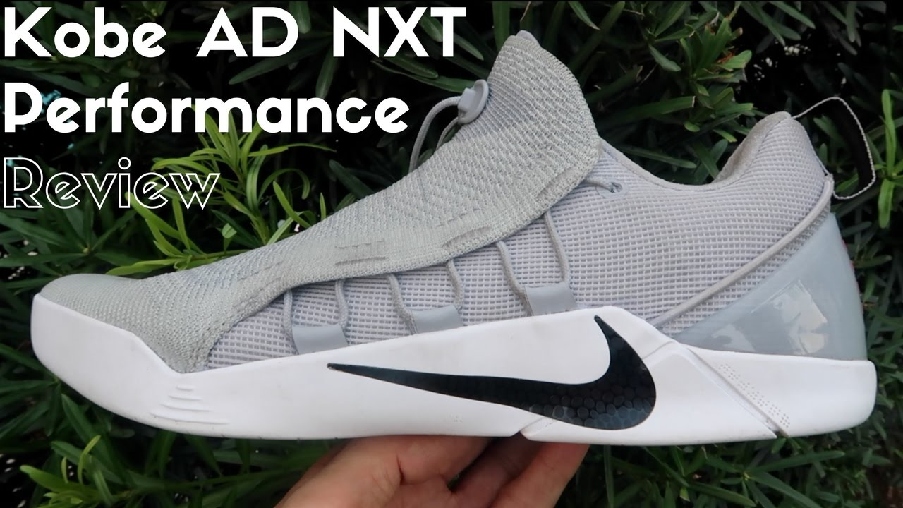 375b70192164 nike kobe ad nxt black white metallic silver review on feet