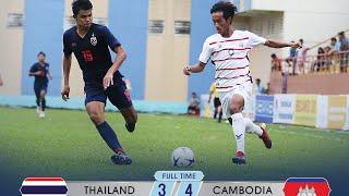 Thailand vs Cambodia 3 4   Highlights & Goals   AFF U18 Championship 09 08 2019 HD