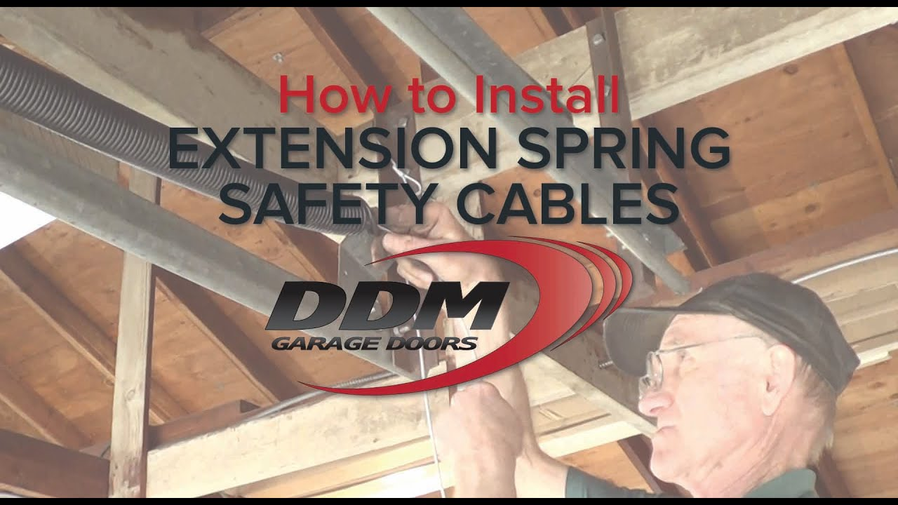 How To Install Extension Spring Safety Cables Youtube