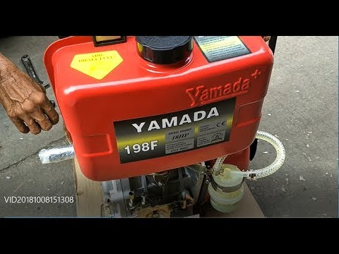 Typical Philippine Fishing Boat Engines - Testing Yamada 18 HP High Speed Marine Diesel Engines