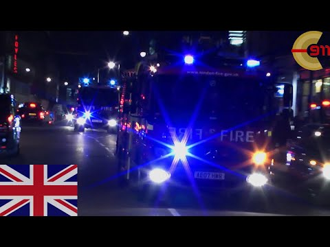 [LONDON] Lots of siren - A241 and A242 Soho on a shout - London Fire Brigade