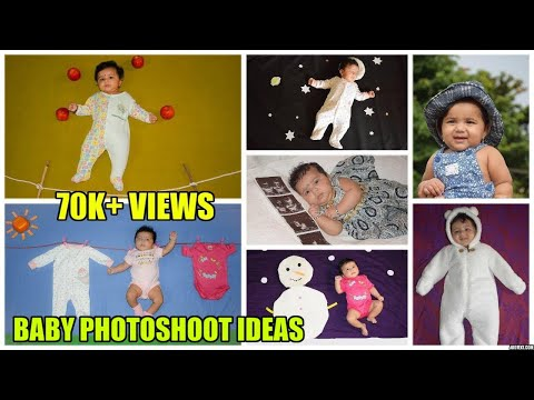 Baby Photoshoot ideas at home, Cute Ideas For Baby Pictures - Srishti's Photoshoot