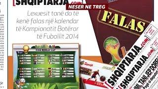 A1 Report - Brazil 2014, nesër bashkë me  Shqiptarja.com, një kalendar falas