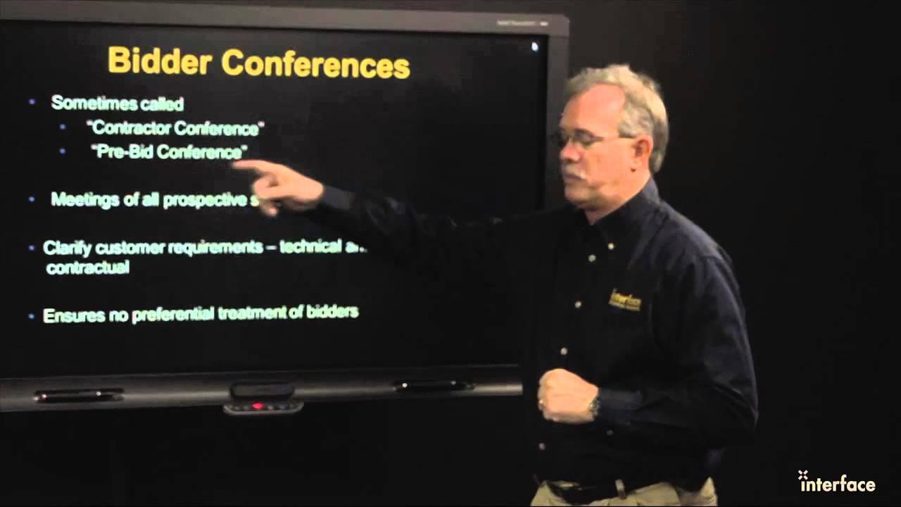 Bidder Conferences Youtube