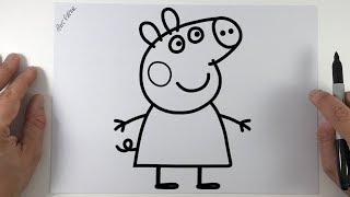 Como dibujar Peppa Pig paso a paso | How to draw a Peppa Pig