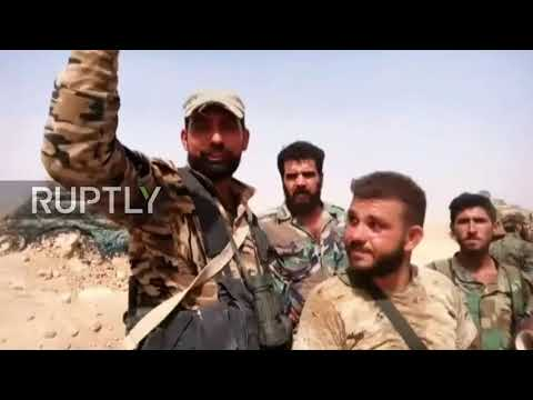 Syria: SAA soldiers celebrate after breaking 3-year long IS siege of Deir ez-Zor