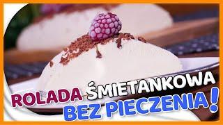 SZYBKIE ciasto BEZ PIECZENIA - rolada śmietankowa - SŁODKA I KREMOWA