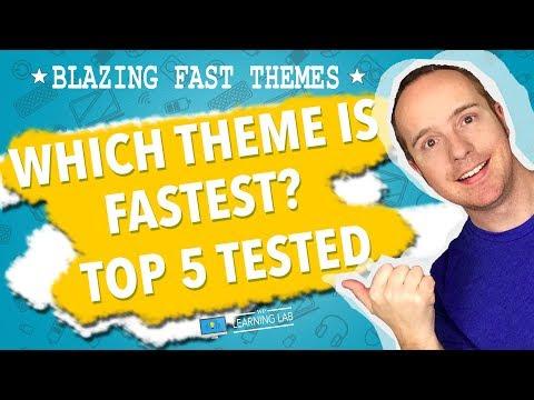 Fastest WordPress Theme 2019