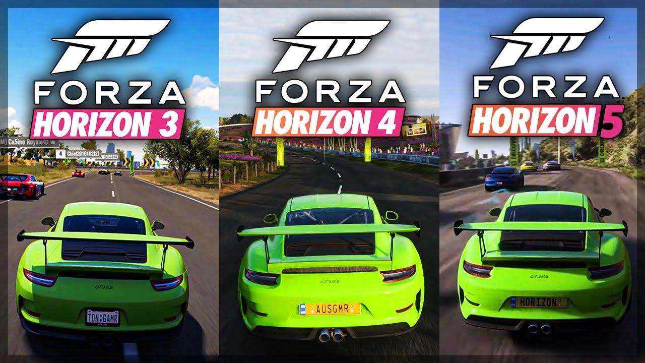 Download Forza Horizon 5 - CAR SOUNDS Comparison (FH3 vs FH4 vs FH5) Porsche 911 GT3 RS