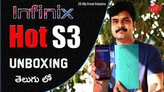 infinix hot s3 Unboxing & initial impressions ll in telugu ll