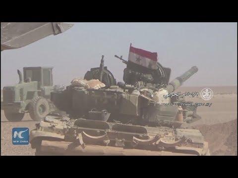 Syrian army pushes into areas at Iraqi border