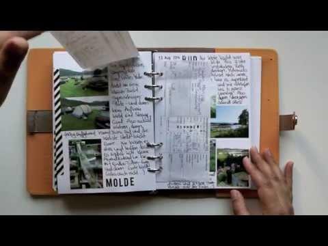 Travel Journal im Filofax   Norwegen Rundreise