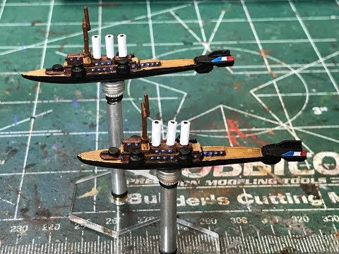 French Fleet for Imperial Skies - Painting Formidable Class Light Cruiser