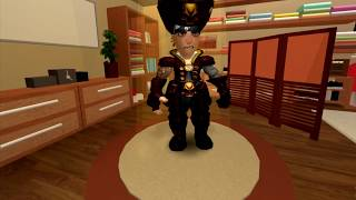 Dressing up as a deep sea pirate in roblox