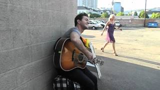 Andy Grammer Alley Serenade for Two Great Fans! (Album Out Now!)