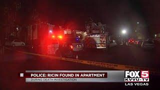 Las Vegas police investigate deadly hazmat scene