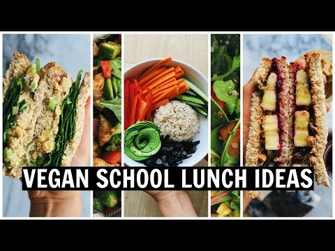 VEGAN SCHOOL LUNCH IDEAS! [ Easy, Healthy, Oil Free ]