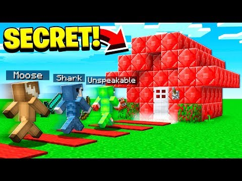 3 YOUTUBERS vs FAN'S SECRET MINECRAFT WORLD...