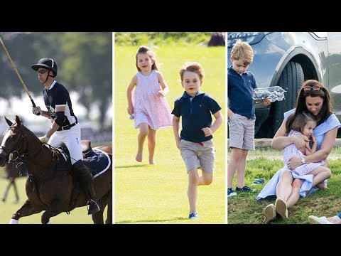 Kate Middleton With Prince George and Princess Charlotte at Polo Match | 2018