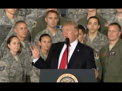 Trump With Air Force Personnel And Families - Full Speech