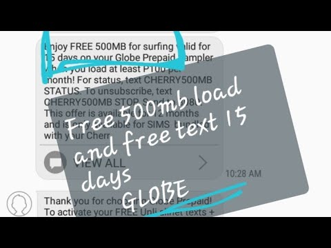 Globe ! Free Load,Free Data,Free Text Dito na Legit 2019 !!!!