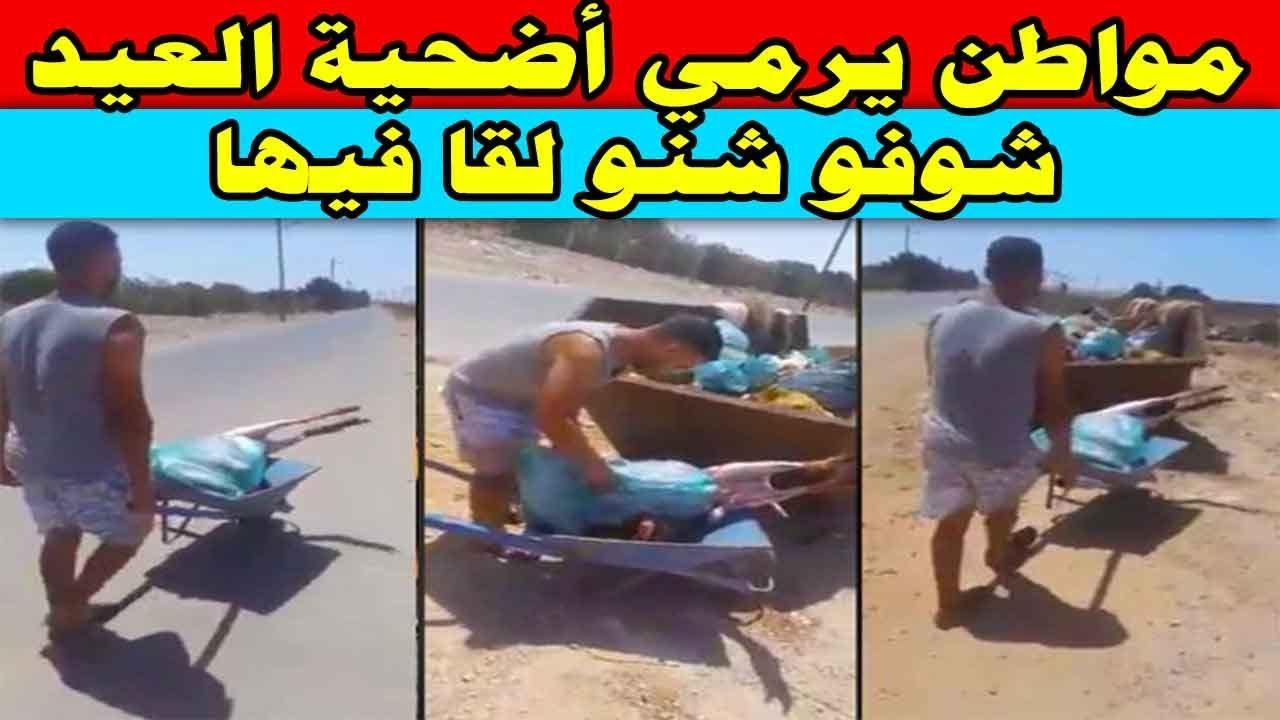مواطن يرمي أضحية العيد .. شوفو شنو لقا فيها