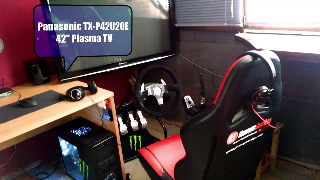 My Sim Racing Setup (G27, Handbrake, Buttkicker, GTOmegaRacing Seat)