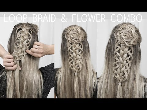 Loop Braid & Flower Rosette Tutorial - DIY!