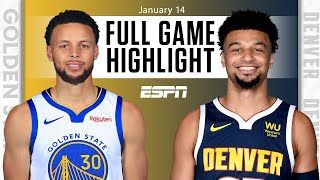 Golden State Warriors vs. Denver Nuggets [FULL GAME HIGHLIGHTS] | NBA on ESPN