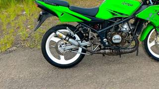 DIY : exhaust silencer removal tested DBS NINJA RR. Test setelah ganti glasswoll