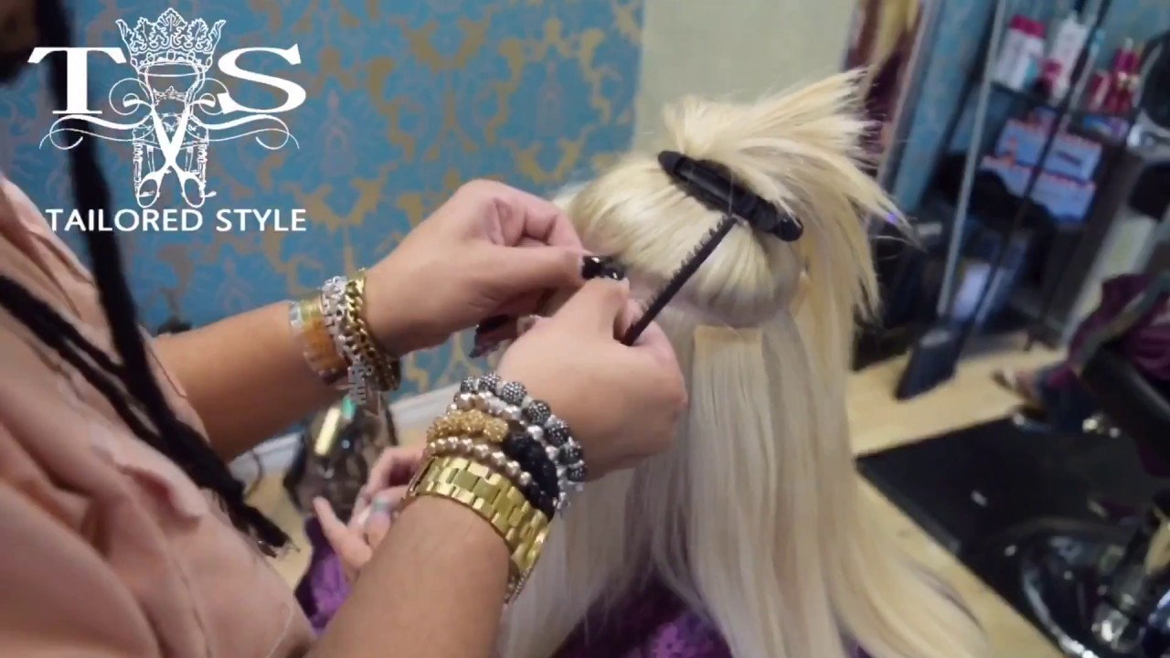 How To Bleach Roots Tape In Extensions Tailored Style Youtube