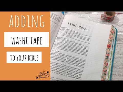 How To Apply Washi Tape On The Edge Of Your Bible Page - A Bible Journaling Technique Tutorial
