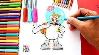 Cómo dibujar a ARENITA paso a paso (Bob esponja) | How to draw Sandy Cheeks SpongeBob