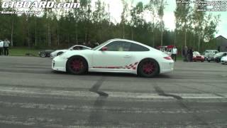 Ferrari 458 Italia vs 9ff GTurbo 750 Porsche 911 GT3 RS based x 2 races