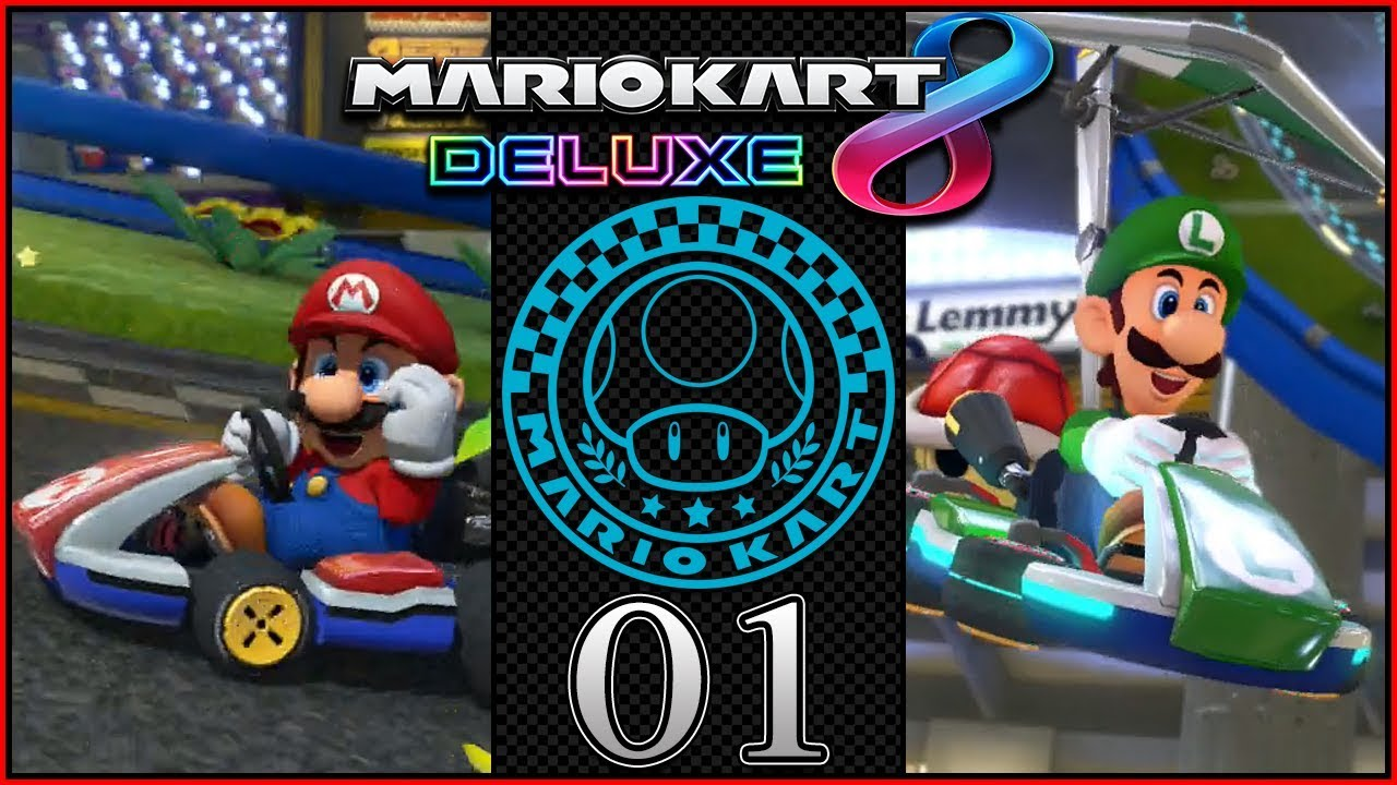 mario vs luigi 200cc mario kart 8 deluxe coop grand prix mushroom cup part 1 darklightbros. Black Bedroom Furniture Sets. Home Design Ideas