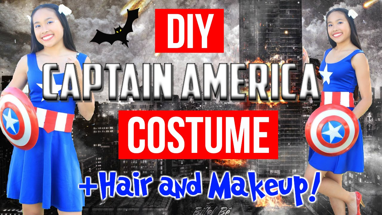Image result for DIY womens captain america halloween costume