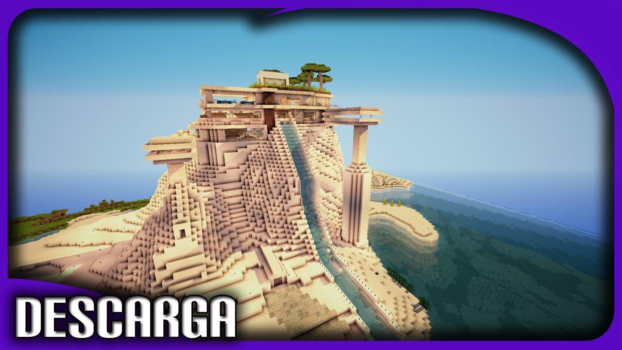 Minecraft casa futurista y autom tica descarga make for Casas futuristas
