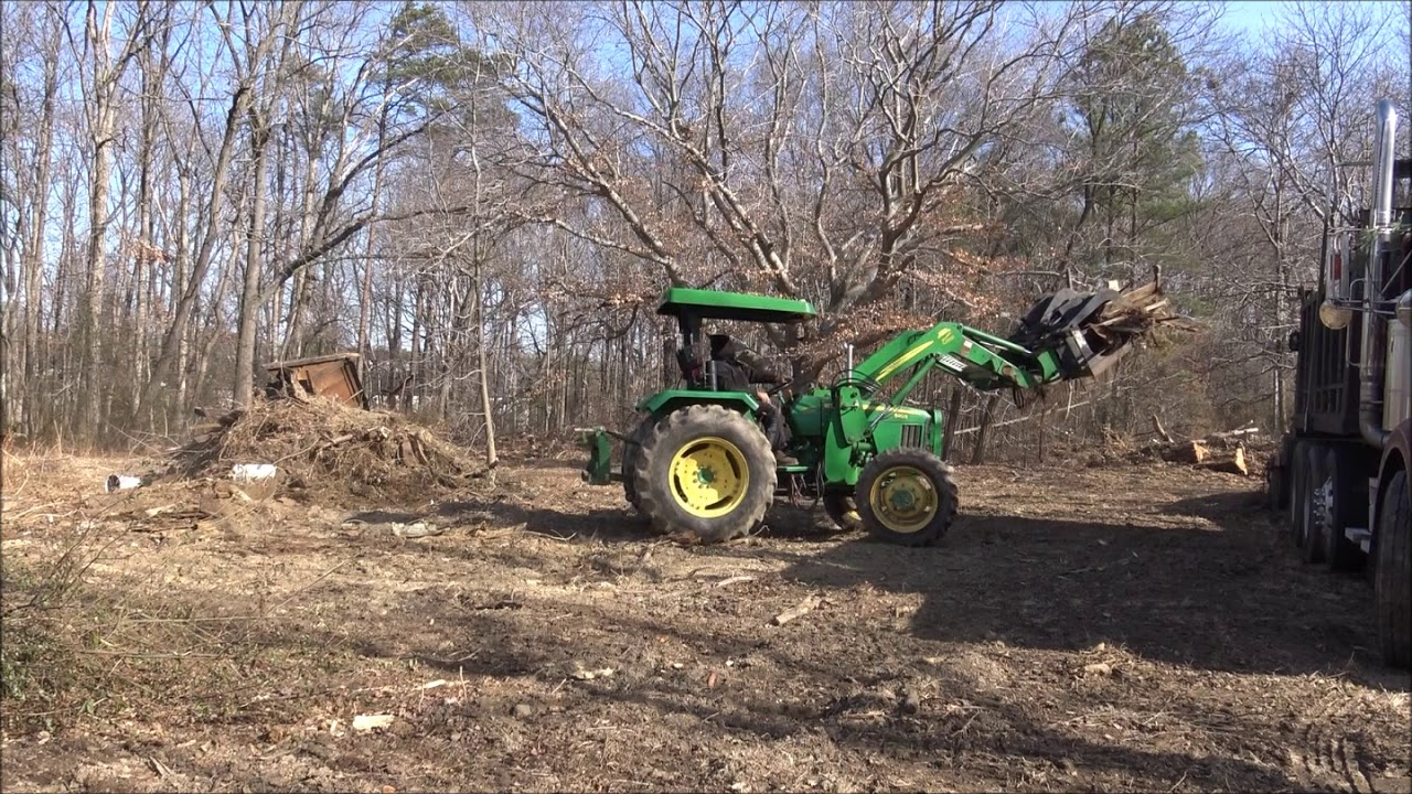 Shed Demo With Cat 941 And John Deere 5403