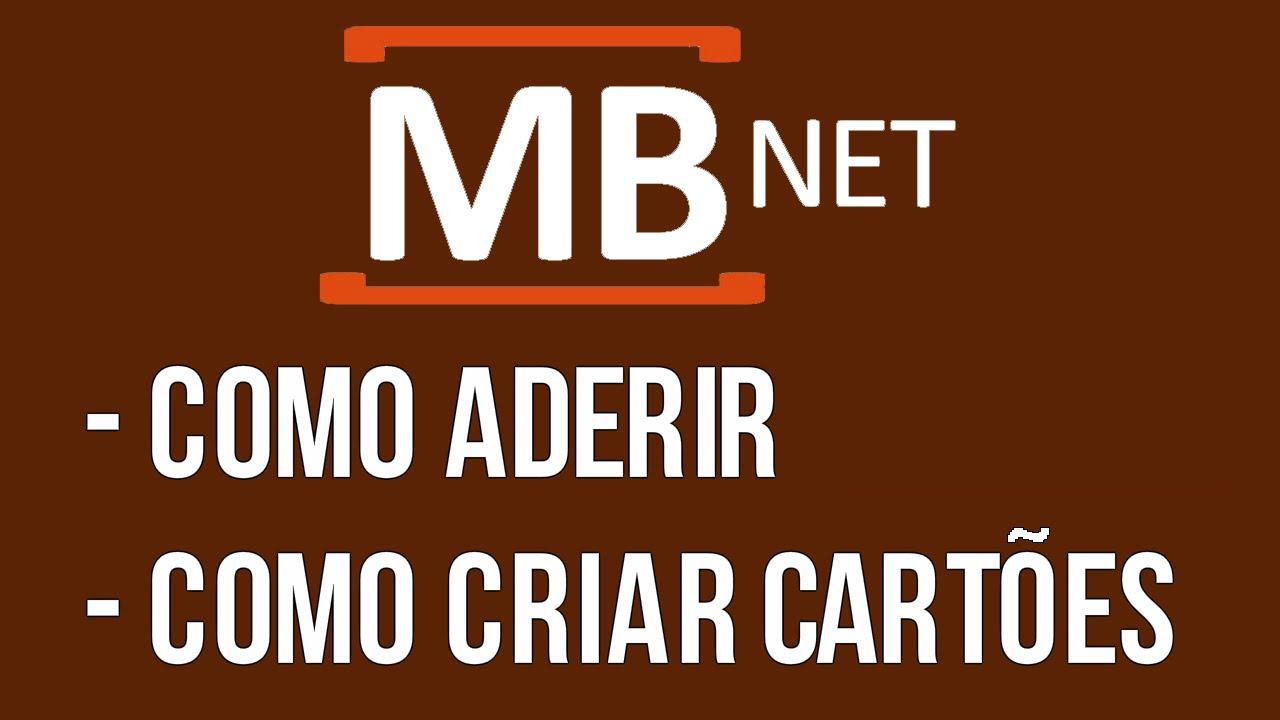 Guia Tutorial Aderir Ao Mbnet E Criar Cartoes De Credito Virtuais