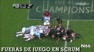 Fueras de juego y otras infracciones en Rugby.