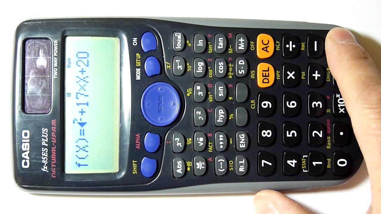 Calcular ecuaciones 2o Grado Con Calculadora - YouTube