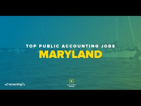 Top Public Accounting Jobs: Maryland