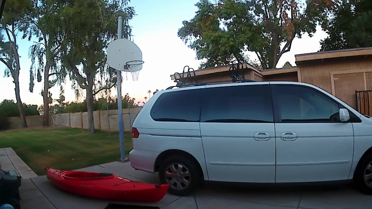 Loading Kayak Onto Roof Rack On 2004 Honda Odyssey Minivan