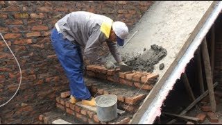 Techniques Construction Stairs Using Brick  - The Art Of Installing Bricks On Concrete Slopes