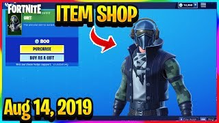FORTNITE ITEM SHOP *NEW* GRIT SKIN AND RED STREAK HARVESTING TOOL! | ITEM SHOP (Aug 14, 2019)