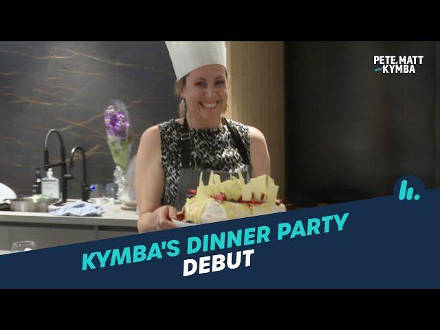 Kymba's Big Dinner Party Debut | Pete, Matt and Kymba | Mix94.5