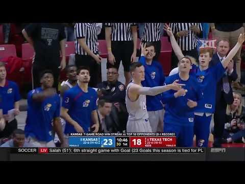 Kansas vs Texas Tech Men's Basketball Highlights