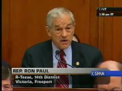 Ron Paul - Madoff Fraud Hearing - Congress - Big Ponzi ...